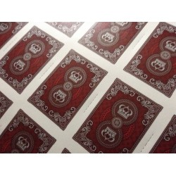 Uncut Sheet Red Crown Luxury